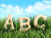 ABC letters in the grass Stock Photography