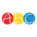 ABC letters. Hand drawn ABC letters on white background Stock Images