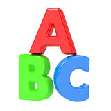 ABC Letters Isolated on White. Royalty Free Stock Photography