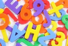 abc letters litet Arkivfoton