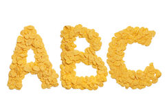 Abc letters made of cornflakes Stock Photography