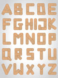 Abc letters made from medical plaster. Abc letter set made from medical plaster Royalty Free Stock Images