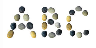 ABC letters made of pebbles. ABC letters made of pebbles on a white background vector illustration