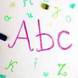 ABC letters on paper. Education Vector Illustration