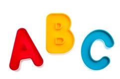 abc letters plast- Arkivfoton