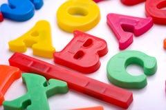 abc letters plast- Arkivbilder