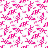 ABC letters seamless pattern. Creative design in office style. ABC letters seamless pattern. Abstract background with alphabet. Creative design, letters Royalty Free Stock Images