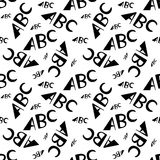 ABC letters seamless pattern. Creative design in office style. ABC letters seamless pattern. Abstract background with alphabet. Creative design, letters Royalty Free Stock Image