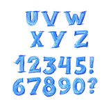 ABC letters set in kid style. School pencil drawn font for lettering and header Stock Photos