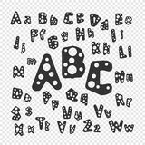 Abc letters vector Royalty Free Stock Images