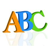 ABC letters on white background vector. ABC letters on white background, vector logo education school kids royalty free illustration