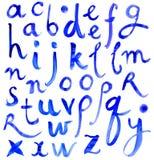 ABC Lettres de l'alphabet écrit avec une brosse Illustration Stock