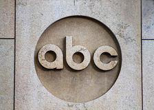ABC logo. New York, August 30, 2016: The ABC company logo on the ABC office builing in Manhattan stock image