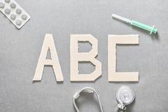 ABC médico Foto de archivo libre de regalías