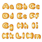 Abc made of bread cakes Royalty Free Stock Photos