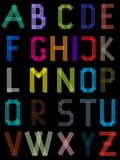 Abc made from color sticky tapes. Abc letter set made from color sticky tapes Royalty Free Stock Image