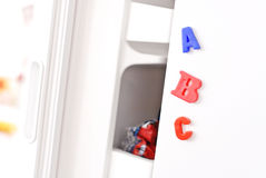 ABC Magents On Fridge Stock Photos