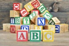 ABC manda un SMS Imagen de archivo libre de regalías