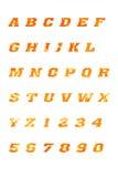 ABC marquent avec des lettres l'alphabet et les symboles images libres de droits