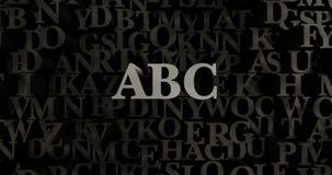 abc - metallisk 3D som framfördes, satte rubrikillustrationen Royaltyfri Bild