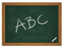 ABC no quadro Foto de Stock