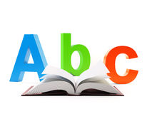 Abc open book Stock Image