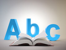 Abc open book. Abc and an open book - education and school concept Stock Photography