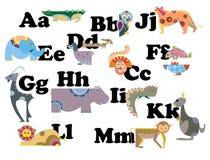ABC par le caractère animal illustration stock