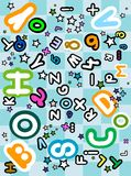 Abc pattern Stock Images
