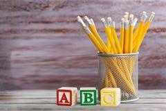 Abc pencils Stock Photos