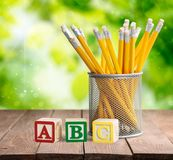 Abc pencils Royalty Free Stock Image