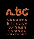 ABC pet. Dog font. Dachshund alphabet. Lettering home animal. ABC pet. Dog font. Dachshund alphabet. Lettering home animal royalty free illustration