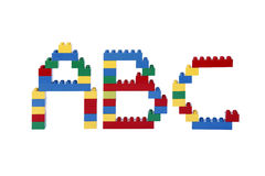 Abc from plastic building blocks Royalty Free Stock Image