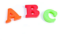 ABC plastic letters Royalty Free Stock Image