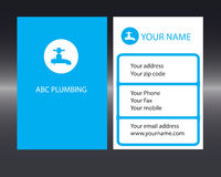 ABC plumbing front and back Royalty Free Stock Photos