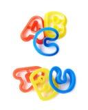 ABC pone letras a formas Fotografía de archivo