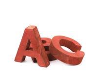 ABC pone letras a la composición aislada Fotografía de archivo