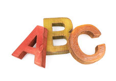 ABC pone letras a la composición aislada Imágenes de archivo libres de regalías