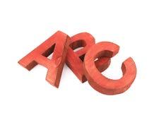 ABC pone letras a la composición aislada Fotos de archivo libres de regalías
