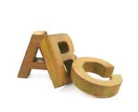 ABC pone letras a la composición aislada Imagenes de archivo