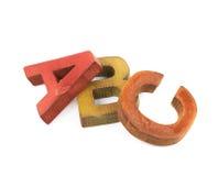 ABC pone letras a la composición aislada Fotos de archivo