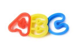 ABC pone letras a las formas aisladas Imagen de archivo libre de regalías