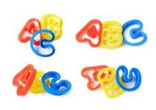 ABC pone letras a las formas aisladas Imagen de archivo