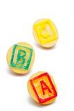 abc-potatisstämplar Arkivfoto
