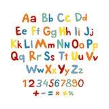 ABC pour l'alphabet d'enfants, illustration, vecteur, enfants, enfants, amusement, Photos stock