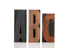 ABC in print letters Stock Photos