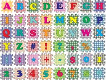 ABC  puzzle color Stock Photo