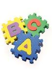 ABC que aprende bloques Imágenes de archivo libres de regalías