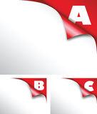 Abc red paper fold Royalty Free Stock Photos