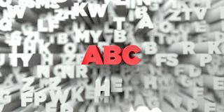 ABC -  Red text on typography background - 3D rendered royalty free stock image Stock Photos